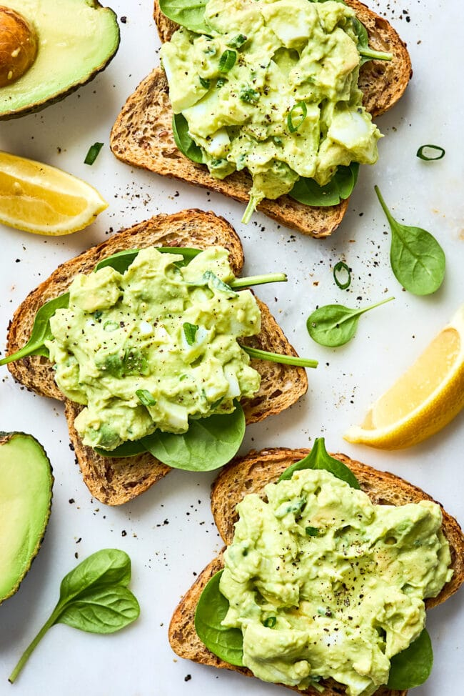 easy avocado egg salad