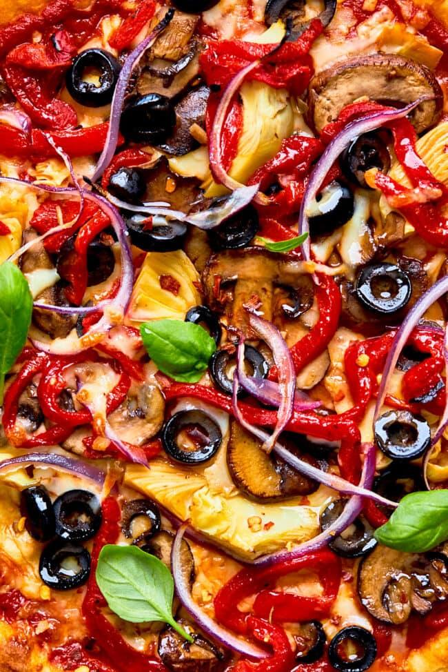 veggie pizza toppings