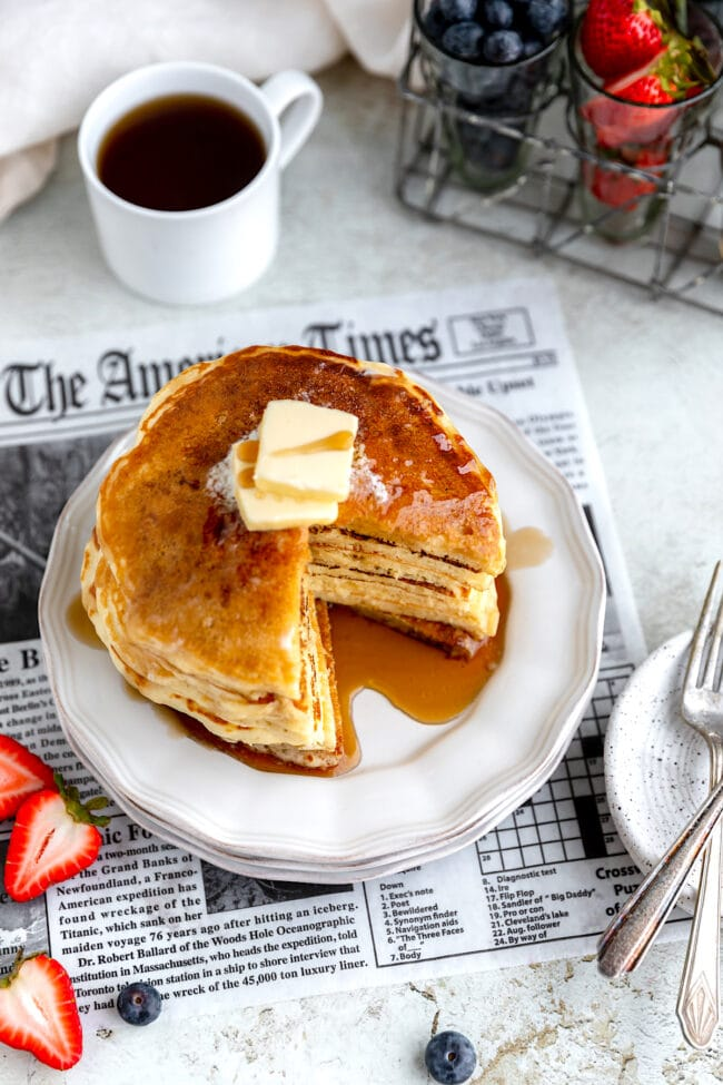 best buttermilk pancakes with maple syrup