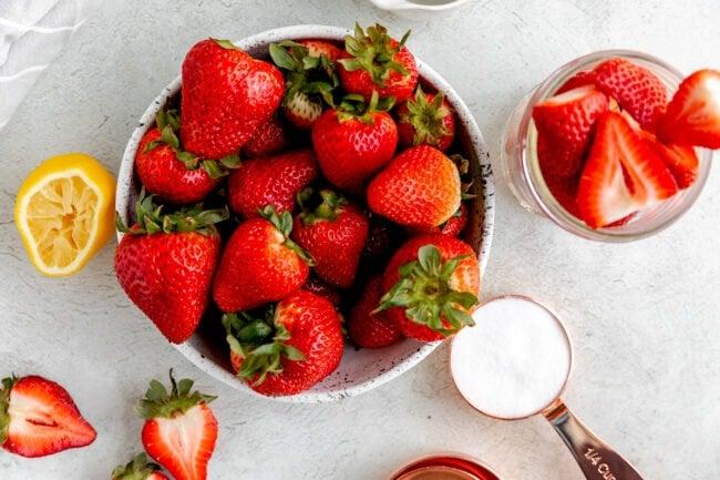 fresh strawberry syrup