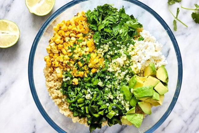 how to make corn and avocado quinoa salad