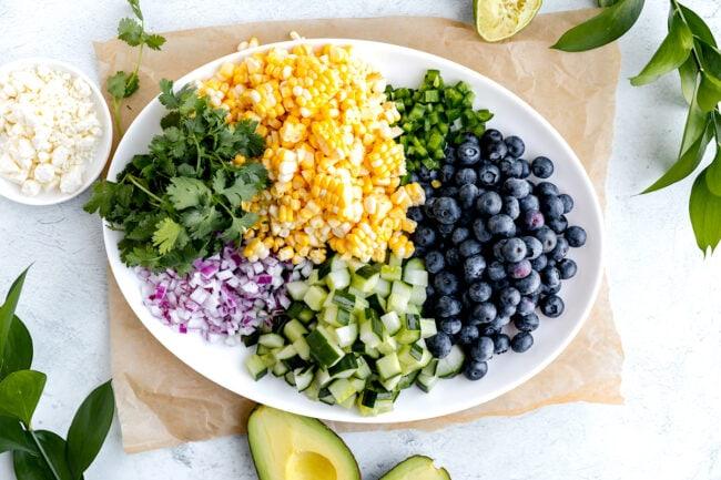 blueberry corn salad ingredients