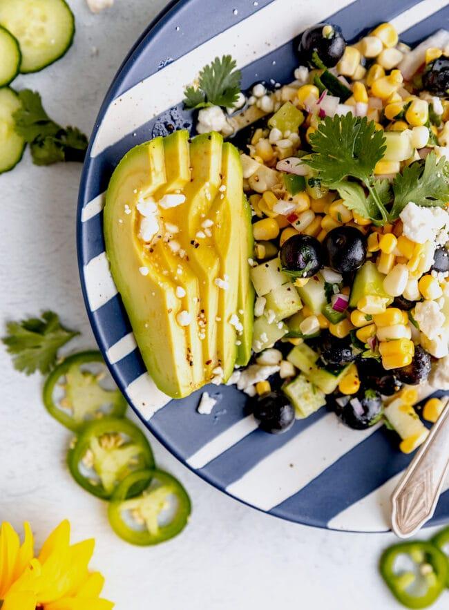 easy blueberry corn salad recipe