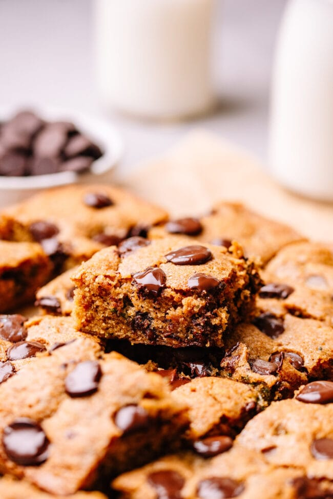 brown butter chocolate chip zucchini bars