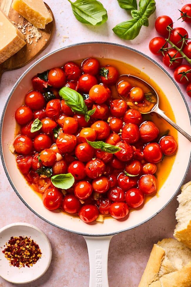 burst cherry tomato sauce