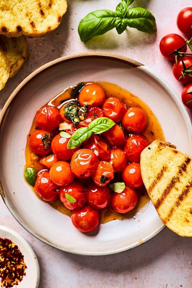 easy burst cherry tomato sauce recipe