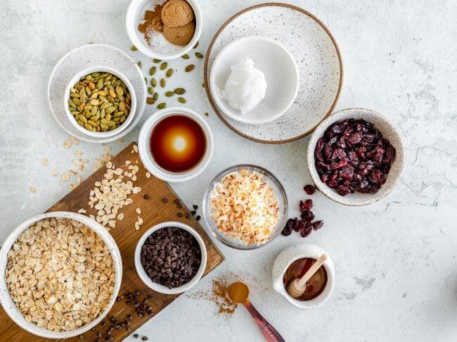 Nut-Free Granola Bar Ingredients