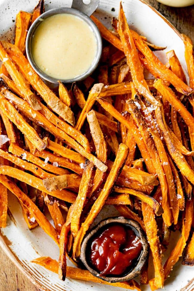 how to make crispy sweet potato fries