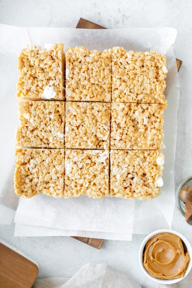 Easy peanut butter rice krispie treats recipe